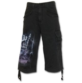 Rock Eternal Vintage Cargo Shorts 3/4 Long Black