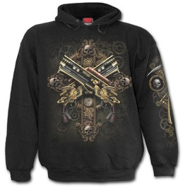 Steampunk Skeleton Hoody Black