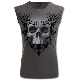 Sleeveless T Shirt Charcoal