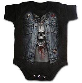 Thrash Metal Baby Sleepsuit Black