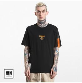 Men's Dreams Or Peace Printed Pocket Ribbon T Shirt