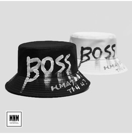 Unisex's Boss Letter Graffiti Printed Bucket Hat