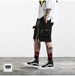 Men's Fashion Circle Zipper Multi Pocket Shorts
