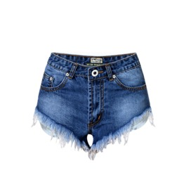 Women's Casual High Waisted Distressed Denim Shorts