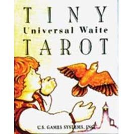 "Tiny Universal Waite Tarot Card Deck In Box 1"" X 1.5"""