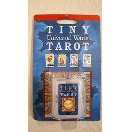 "Tiny Tarot Key Chain Universal Waite Worlds Smallest Tarot Deck 3/4"" X 1.5"""