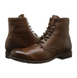 Handmade Men Lace Up Vintage Brown Ankle Boot, Men Antique Brown Biker Boot