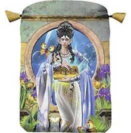 "Apokalypsis Greek Goddess Drawstring Treasure Tarot Bag 6"" X 9"""