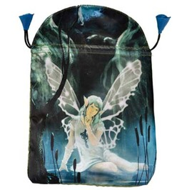 "Water Fairy Drawstring Treasure Tarot Bag 6"" X 9"""