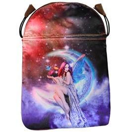 "Pin Up Celestial Fairy Moon Drawstring Treasure Tarot Bag 6"" X 9"""