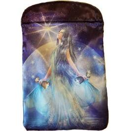 "Thelema Magic Goddess Drawstring Treasure Tarot Bag 6"" X 9"""