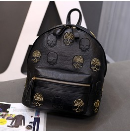 Womens Skull Star 3 D Leather Luxury Backpack Limited Edition 4 Styles