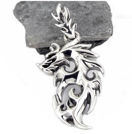 925 Sterling Silver Viking Norse Fenrir Wolf Pendant