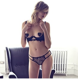 Sexy Pop Up Lingerie Lace Bra Underwear Black Women's