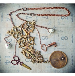 Steampunk Chatelaine, Versatile Accessory: Necklace Or Belt. Usa Brass.