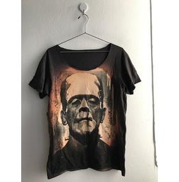 Frankenstein Monster Punk Rock Band Flyer Fashion T Shirt Low Cut M