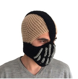 Men's Crcochet Hat, Ski Mask Bane Mask Batman, Gift For Men