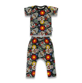 Baby Two Piece Sugar Skull Outfit