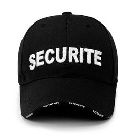 Unisex's Securite Embroideried Cotton Adjustable Baseball Cap