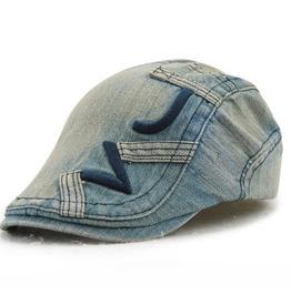 Unisex's Classic Cotton Distressed Newsboy Cap Beret Hat