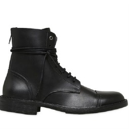 Handmade Men Black Military Boots, Men Combat Boot, Men Lace Up Boot, Mens