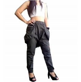Charcoal Gray Trouser Apocalyptic Style Harem Pants P040