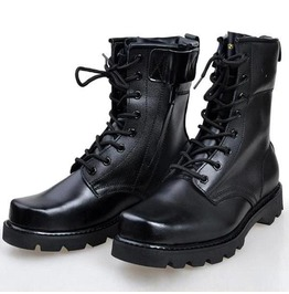 New Men Black Military Boots, Men Combat Boot, Men Lace Up Boot, Mens