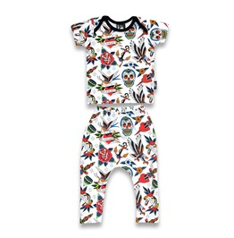Baby Two Piece Tattoo Flash Outfit