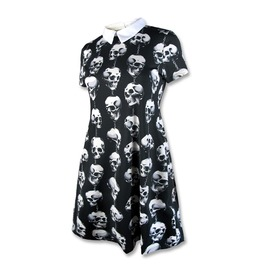 Women's Trinket Skull Collar Dress