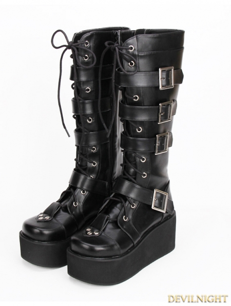 rebelsmarket_black_gothic_punk_pu_lace_up_belt_platform_knee_boots_9708_b_boots_5.jpg