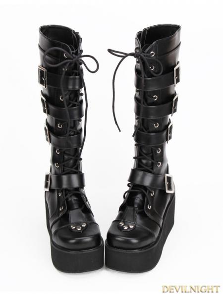 rebelsmarket_black_gothic_punk_pu_lace_up_belt_platform_knee_boots_9708_b_boots_3.jpg