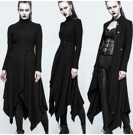 Women Gothic Long Coat Punk Rave Female Witch Style Long Jacket Coat