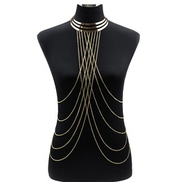 Punk Body Chain Women Tassel Harness Statement Jewelry