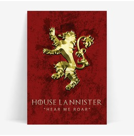 House Lannister Game Of Thrones Inspired 11x14 Or A3 Print