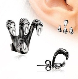 Get A Grip Triple Claw Earrings