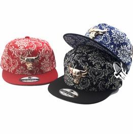 Fashion Floral Charm Flat Hat, Summer Holiday Snapback Bull Baseball Caps