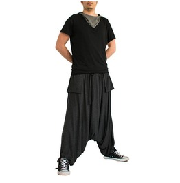 Drop Crotch Pants, Men Harem Pants, Baggy Pants, Workout Pants