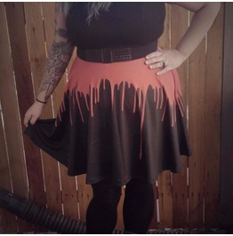Blood Drip High Waisted Skirt