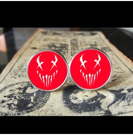 Mushroomhead X Face Red Back Logo Cuff Links Men, Weddings,Grooms, Thrash