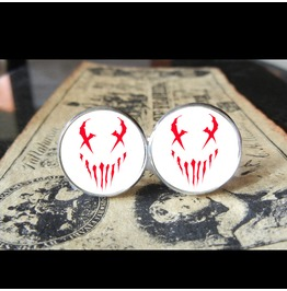 Mushroomhead X Face White Back Logo Cuff Links Men, Weddings,Grooms, Thrash
