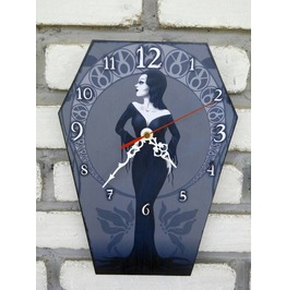 Morticia Addams Wall Clock. Coffin Shape Clock. The Addams Family Character