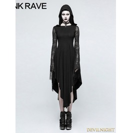 Black Gothic Dress With Back Spider Net Q 328