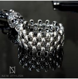 Multi Gothic Skull Link Bracelet 76