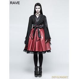 Black Gothic Lolita Black Hakama Kimono Lq 079