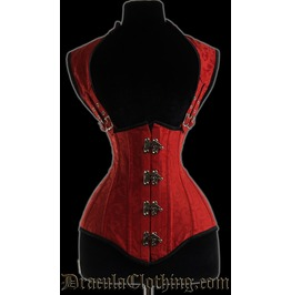 Red Brocade Apocalyptic Clasp Corset