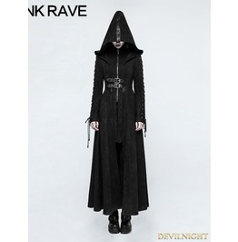 Black Gothic Dark Angel Long Coat For Women Y 780