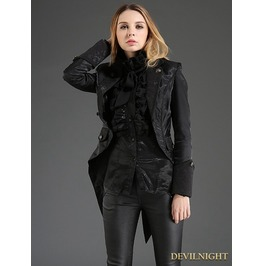 Black Gothic Dovetail Jacket For Women M080029 B