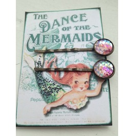Pink Mermaid Scale Hairslides Hairclips