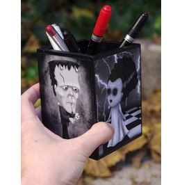Universal Studios Classic Monsters Wooden Pencil Holder.