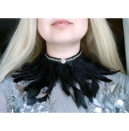 Bdsm Submissive Collar Triskele Emblem Symbol Feather Choker Boho Bohemian